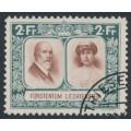 LIECHTENSTEIN - 1930 2Fr green/brown Royal Couple, used – Michel # 107