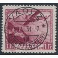 LIECHTENSTEIN - 1930 1Fr deep red-carmine Airmail, used – Michel # 113