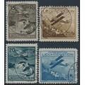 LIECHTENSTEIN - 1930 15Rp to 35Rp Airmail short set of 4, used – Michel # 108-111