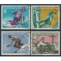 LIECHTENSTEIN - 1955 10Rp to 40Rp Mountain Sports set of 4, used – Michel # 334-337