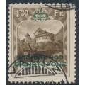 LIECHTENSTEIN - 1932 1.20Fr deep ochre-brown Vaduz Castle official, used – Michel # D8B
