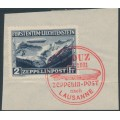 LIECHTENSTEIN - 1931 2Fr deep blue Graf Zeppelin, used – Michel # 115