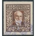 LIECHTENSTEIN - 1940 3Fr deep orange-brown Prince Johann II, used – Michel # 191