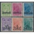 LIECHTENSTEIN - 1920 Coat of Arms & Prince Johann II set of 6 with overprints, used – Michel # 11-16
