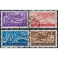 LIECHTENSTEIN - 1937 10Rp to 50Rp Jobs Creation set of 4, used – Michel # 152-155
