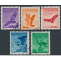 LIECHTENSTEIN - 1934 10Rp to 50Rp Eagle Airmail set of 5, used – Michel # 143y-147y