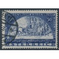 AUSTRIA - 1933 50g+50g deep ultramarine WIPA philatelic exhibition, granite paper, used – Michel # 555C