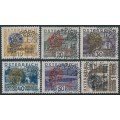 AUSTRIA - 1931 10g to 1S Rotary International overprints set of 6, used – Michel # 518-523