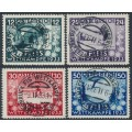 AUSTRIA - 1933 FIS Competition in Innsbruck set of 4, used – Michel # 551-554