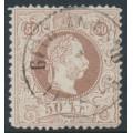 AUSTRIA - 1867 50Kr brown Emperor Franz Josef, coarse print, used – Michel # 41I