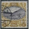 AUSTRIA - 1910 5Kr ochre-brown/black-violet Emperor's Birthday, used – Michel # 176