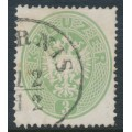 AUSTRIA - 1863 3Kr yellow-green Double-Headed Eagle, perf. 14, used – Michel # 25a