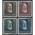 AUSTRIA - 1928 10th Anniversary of the Republic set of 4, used – Michel # 494-497
