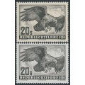 AUSTRIA - 1952 20S grey Birds on grey and white papers, MNH – Michel # 968x + 968y
