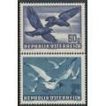AUSTRIA - 1950 60g violet & 2S blue Birds set of 2, MNH – Michel # 955-956
