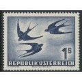 AUSTRIA - 1953 1S deep purple-ultramarine Bird airmail, MNH – Michel # 984