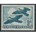 AUSTRIA - 1953 3S deep green-blue Bird airmail, MNH – Michel # 985