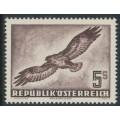 AUSTRIA - 1953 5S deep purple-brown Bird airmail, MNH – Michel # 986