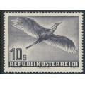 AUSTRIA - 1953 10S deep violet-grey Bird airmail, MNH – Michel # 987