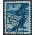 AUSTRIA - 1925 1S deep violet-ultramarine Crane airmail, used – Michel # 483