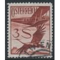 AUSTRIA - 1926 3S deep brown-red Crane airmail, used – Michel # 485
