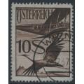 AUSTRIA - 1926 10S deep brown on grey Crane airmail, used – Michel # 487