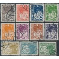 AUSTRIA - 1925-1930 2g to 80g Pilot airmail set of 11, used – Michel # 468-478