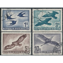 AUSTRIA - 1953 1S to 10S Birds airmail set of 4, used – Michel # 984-987