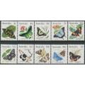 AUSTRALIA - 1983 Butterflies set of 10, MNH – SG # ex. 783-806