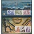 AUSTRALIA - 1999 set of 2 imperforate Navigators sheets, MNH – SG # MS1852c