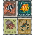 AUSTRALIA - 1966 7c to 10c Marine Life set of 4, MNH – SG # 388-392