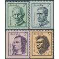 AUSTRALIA - 1968 Famous Australians set of 4, MNH – SG # 432-435