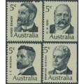 AUSTRALIA - 1969 Prime Ministers set of 4, MNH – SG # 446-449