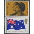 AUSTRALIA - 1970 Royal Visit set of 2, MNH – SG # 456-457