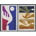 AUSTRALIA - 1974 Universal Postal Union (UPU) set of 2, MNH – SG # 576-577