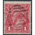 AUSTRALIA - 1914 1d carmine-red KGV Head (G10) – Victorian '32' numeral cancel (= Coleraine)