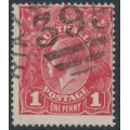 AUSTRALIA - 1915 1d dull red KGV Head (G16) – Victorian '395' numeral cancel (= Moe)