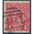 AUSTRALIA - 1915 1d dull red KGV Head (G16) – Victorian '481' numeral cancel (= Walhalla)