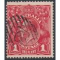 AUSTRALIA / SA - 1914 1d carmine-red KGV Head (G10) – '64' diamond numeral cancel (= Clarendon)