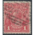 AUSTRALIA - 1915 1d dull red KGV Head (G16) – Queensland '404' numeral cancel (= Blackstone)