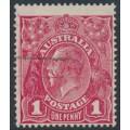 AUSTRALIA - 1918 1d plum KGV Head (shade = G71), used – ACSC # 72L