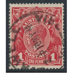 AUSTRALIA - 1918 1d brownish red KGV Head, die III (shade = G112), used – ACSC # 75D