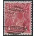 AUSTRALIA - 1918 1d dull red KGV Head (G72), 'line under RVT', used – ACSC # 72M(2)g