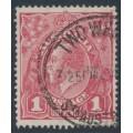 AUSTRALIA - 1919 1d pale carmine-rose (LM watermark) KGV Head (shade = G106), used – ACSC # 74C