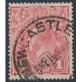 AUSTRALIA - 1917 1d reddish salmon KGV Head (G26), inverted watermark, used – ACSC # 71Ra