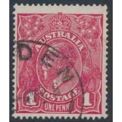 AUSTRALIA - 1918 1d damson KGV Head (shade = G70½), used – ACSC # 72K