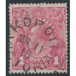 AUSTRALIA - 1918 1d lilac-pink KGV Head (shade = G28½), used – ACSC # 71T