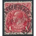 AUSTRALIA - 1917 1d deep orange-red KGV Head (shade = G24½), used – ACSC # 71P