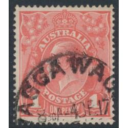 AUSTRALIA - 1917 1d deep salmon eosin KGV Head (shade = G27), used – ACSC # 71S