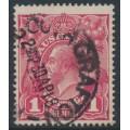 AUSTRALIA - 1918 1d deep carmine-pink KGV Head (shade = G29), used – ACSC # 71U